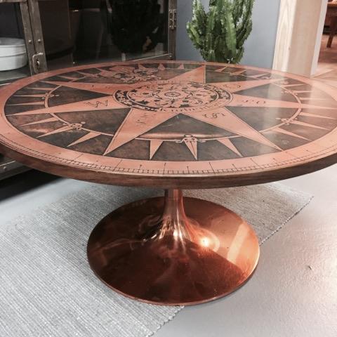 Lækkert sofabord i kobber - SOLGT - Lopper med nostalgi